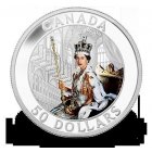 2013 $50 Silver Coin Queen's 60TH Anniv. Coronation 5 oz silver